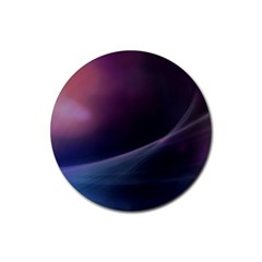 Abstract Form Color Background Rubber Coaster (round)