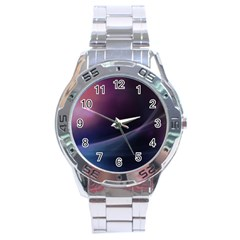 Abstract Form Color Background Stainless Steel Analogue Watch