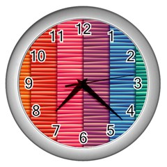 Background Colorful Abstract Wall Clocks (silver)  by Nexatart