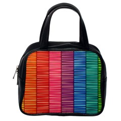 Background Colorful Abstract Classic Handbags (one Side)