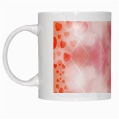 Heart Background Wallpaper Love White Mugs