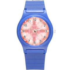 Heart Background Wallpaper Love Round Plastic Sport Watch (s)