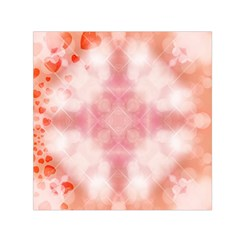 Heart Background Wallpaper Love Small Satin Scarf (square)