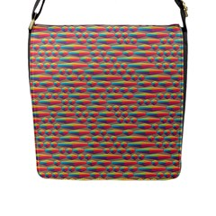 Background Abstract Colorful Flap Messenger Bag (l)