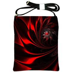 Abstract Curve Dark Flame Pattern Shoulder Sling Bags