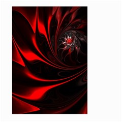Abstract Curve Dark Flame Pattern Large Garden Flag (two Sides)