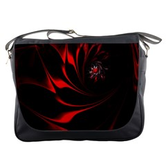 Abstract Curve Dark Flame Pattern Messenger Bags