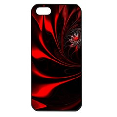 Abstract Curve Dark Flame Pattern Apple Iphone 5 Seamless Case (black)