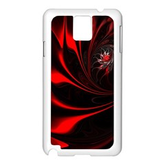 Abstract Curve Dark Flame Pattern Samsung Galaxy Note 3 N9005 Case (white)