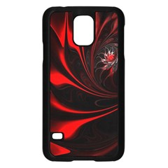 Abstract Curve Dark Flame Pattern Samsung Galaxy S5 Case (black)