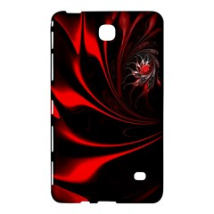 Abstract Curve Dark Flame Pattern Samsung Galaxy Tab 4 (8 ) Hardshell Case
