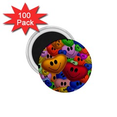 Heart Love Smile Smilie 1 75  Magnets (100 Pack)