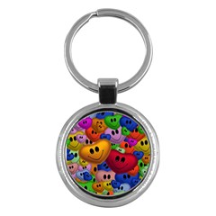 Heart Love Smile Smilie Key Chains (round)