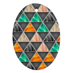 Abstract Geometric Triangle Shape Ornament (oval)