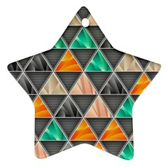 Abstract Geometric Triangle Shape Ornament (star)