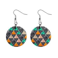 Abstract Geometric Triangle Shape Mini Button Earrings