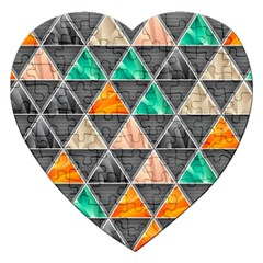 Abstract Geometric Triangle Shape Jigsaw Puzzle (heart) by Nexatart