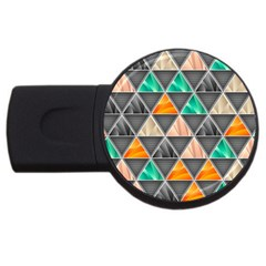 Abstract Geometric Triangle Shape Usb Flash Drive Round (4 Gb)