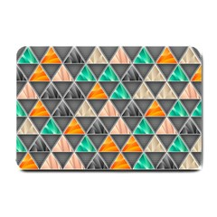 Abstract Geometric Triangle Shape Small Doormat