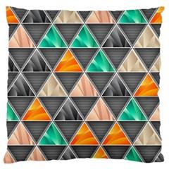 Abstract Geometric Triangle Shape Large Cushion Case (one Side)