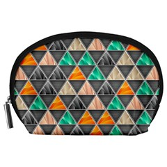 Abstract Geometric Triangle Shape Accessory Pouches (large)