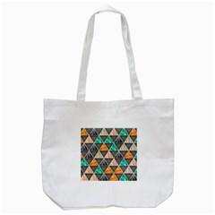 Abstract Geometric Triangle Shape Tote Bag (white)