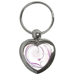 Abstract Background Flowers Key Chains (heart)