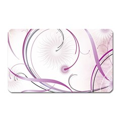 Abstract Background Flowers Magnet (rectangular)