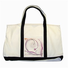 Abstract Background Flowers Two Tone Tote Bag