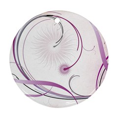 Abstract Background Flowers Round Ornament (two Sides)