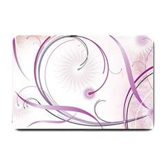 Abstract Background Flowers Small Doormat