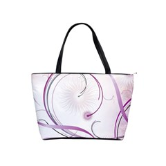 Abstract Background Flowers Shoulder Handbags