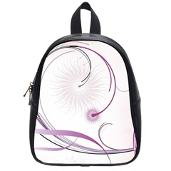 Abstract Background Flowers School Bag (small)