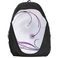 Abstract Background Flowers Backpack Bag