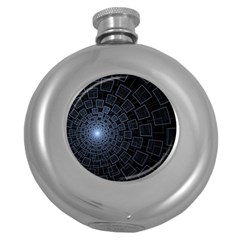 Pattern Abstract Fractal Art Round Hip Flask (5 Oz)
