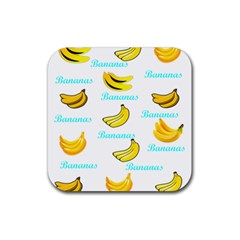 Bananas Rubber Square Coaster (4 Pack)