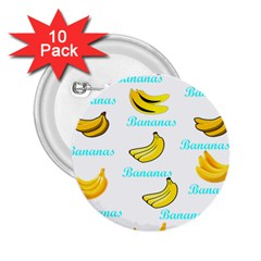 Bananas 2 25  Buttons (10 Pack)