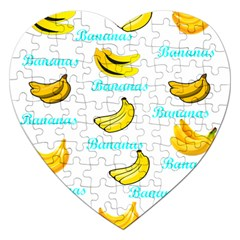 Bananas Jigsaw Puzzle (heart) by cypryanus