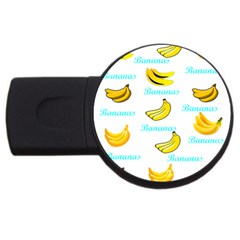 Bananas Usb Flash Drive Round (4 Gb) by cypryanus
