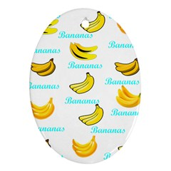 Bananas Oval Ornament (two Sides)