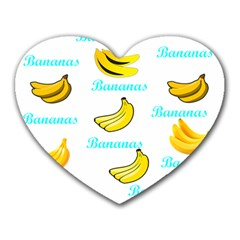 Bananas Heart Mousepads