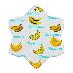 Bananas Snowflake Ornament (two Sides)