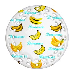 Bananas Round Filigree Ornament (two Sides)
