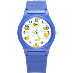 Bananas Round Plastic Sport Watch (s) by cypryanus