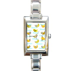 Bananas Rectangle Italian Charm Watch