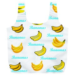 Bananas Full Print Recycle Bags (l)  by cypryanus