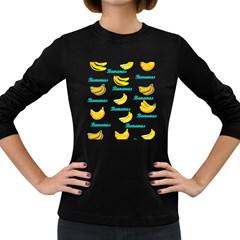 Bananas Women s Long Sleeve Dark T Shirts