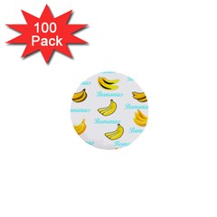 Bananas 1  Mini Buttons (100 Pack)