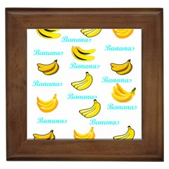 Bananas Framed Tiles