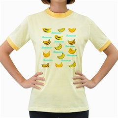 Bananas Women s Fitted Ringer T Shirts